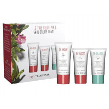CLARINS KIT LE TRIO BELLE PEAU (RE-MOVE GEL+TINTED GEL CREAM+RE CHARGE MASK)